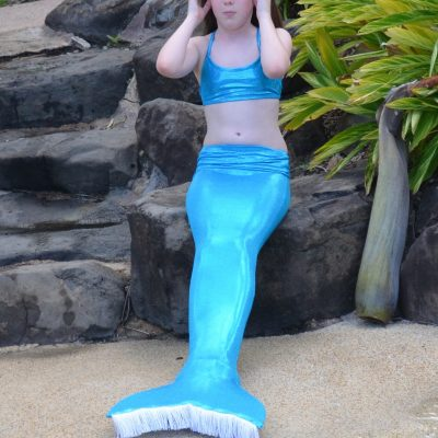 Aqua mermaid tail and crop top